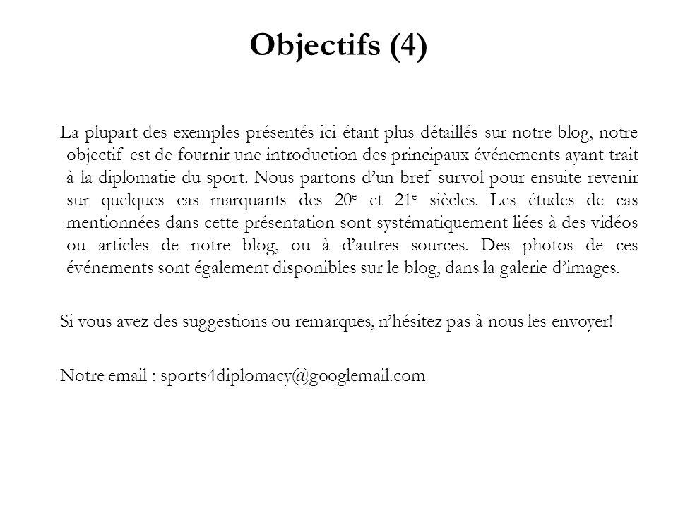 Objectifs (4) La plupart des exemples présentés ici étant plus détaillés sur notre blog, notre objectif est de fournir une introduction des principaux