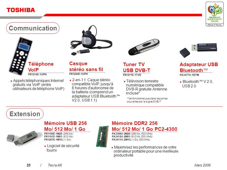 Mars 200632/Tecra A6 Mini disque dur 80 Go PX1217E-1G08 Unité USB FDD externe PA3109E-3FDD Disque dur 160/250/320 Go PX1219E-1G16 (160 Go) PX1220E-1G2