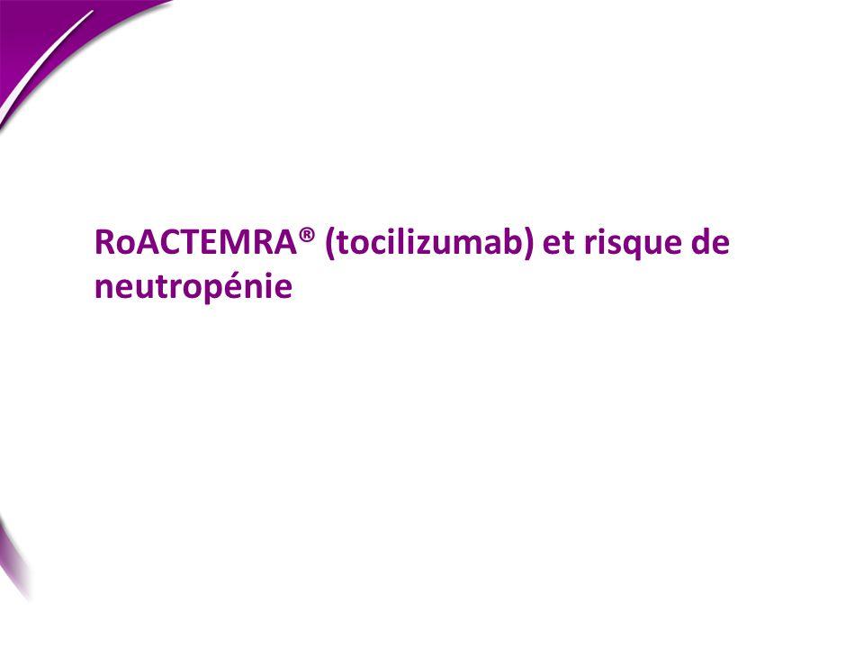 RoACTEMRA® (tocilizumab) et risque de neutropénie