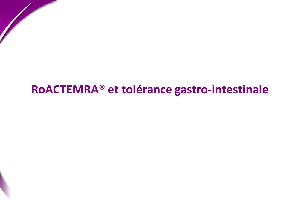 RoACTEMRA® et tolérance gastro-intestinale