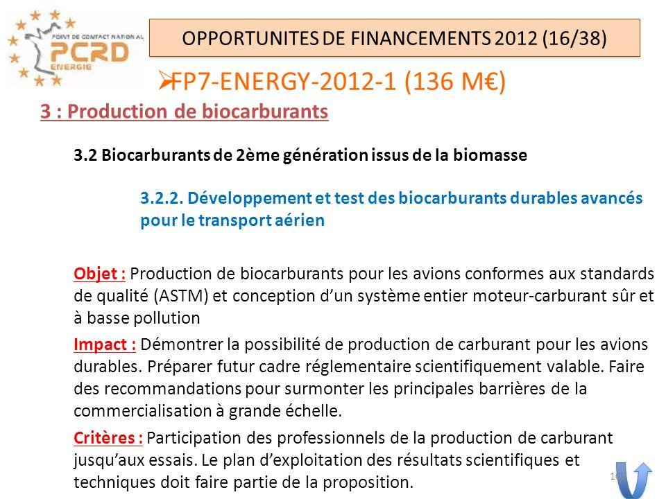 3 : Production de biocarburants 3.2 Biocarburants de 2ème génération issus de la biomasse 3.2.2. Développement et test des biocarburants durables avan