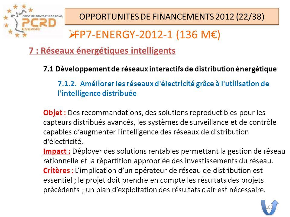 7 : Réseaux énergétiques intelligents 7.1 Développement de réseaux interactifs de distribution énergétique 7.1.2. Améliorer les réseaux d'électricité