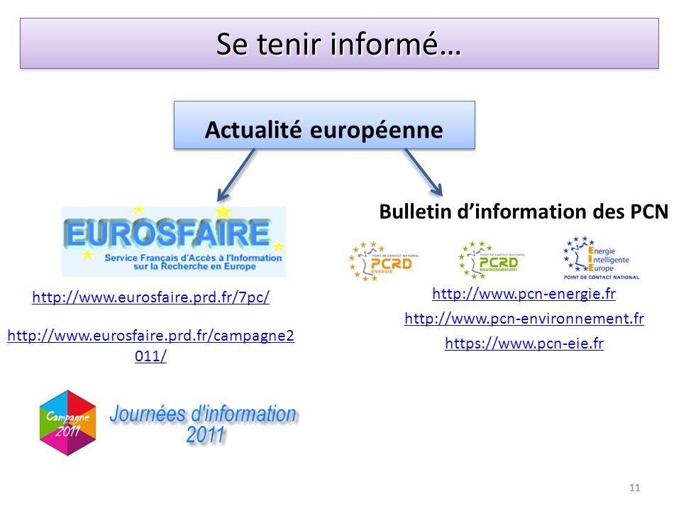 Actualité européenne Bulletin dinformation des PCN http://www.pcn-energie.fr http://www.pcn-environnement.fr https://www.pcn-eie.fr http://www.eurosfa