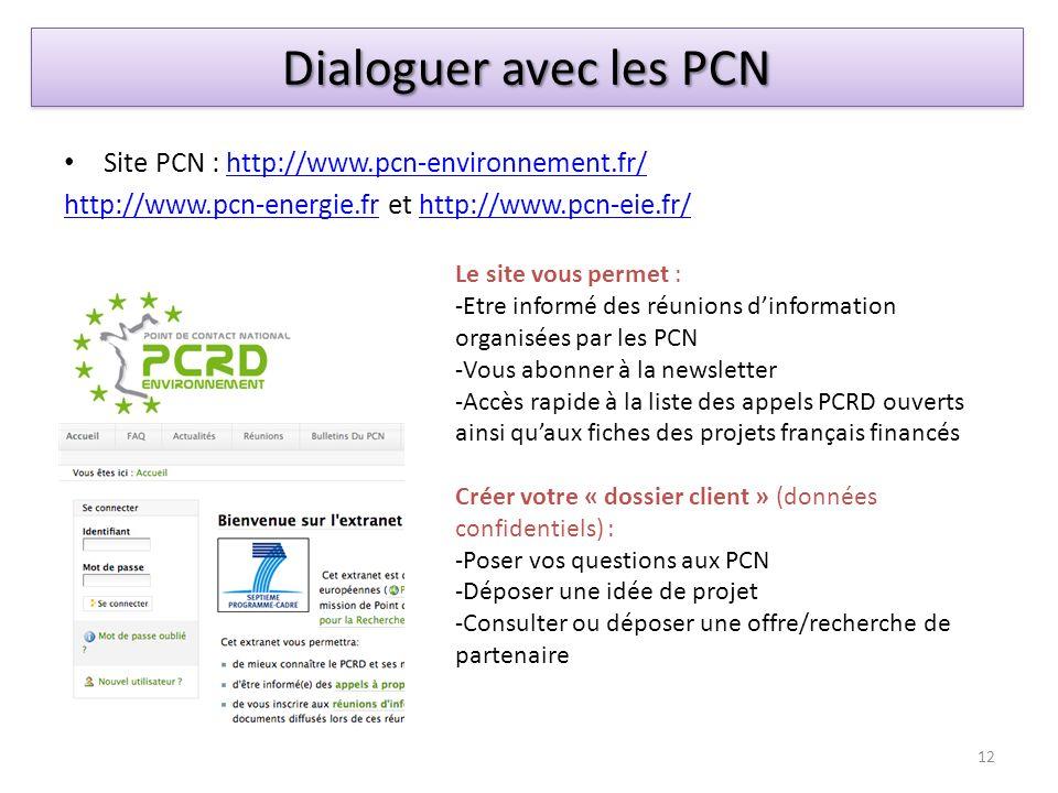 Site PCN : http://www.pcn-environnement.fr/http://www.pcn-environnement.fr/ http://www.pcn-energie.frhttp://www.pcn-energie.fr et http://www.pcn-eie.f