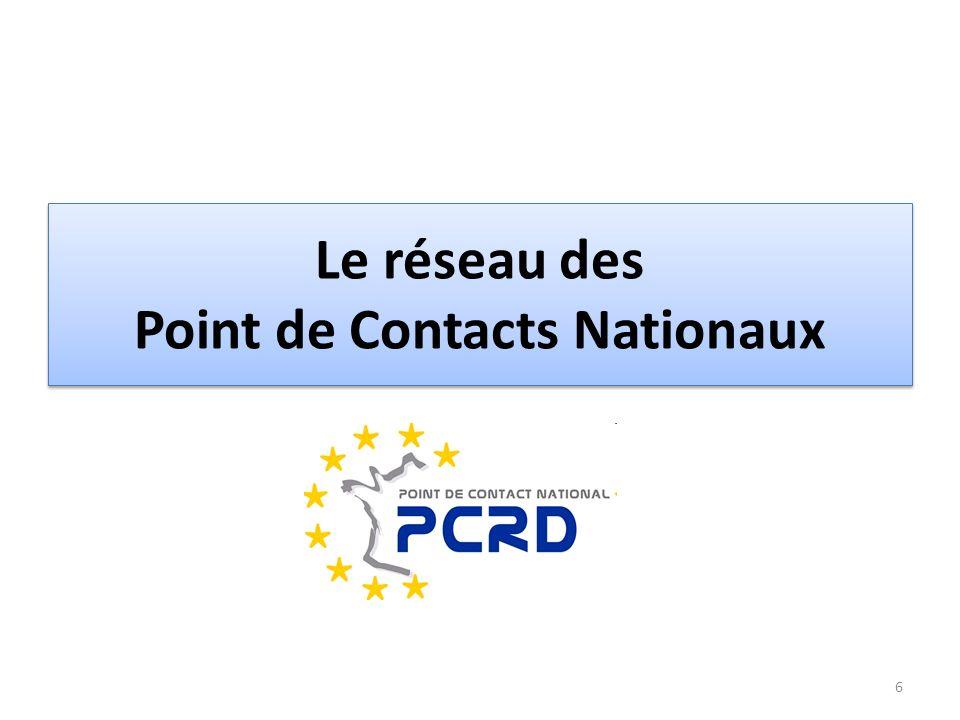 Le réseau des Point de Contacts Nationaux 6