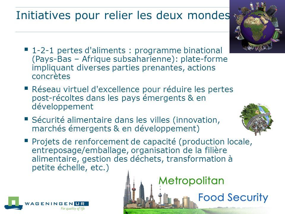 Initiatives pour relier les deux mondes 1-2-1 pertes d'aliments : programme binational (Pays-Bas – Afrique subsaharienne): plate-forme impliquant dive