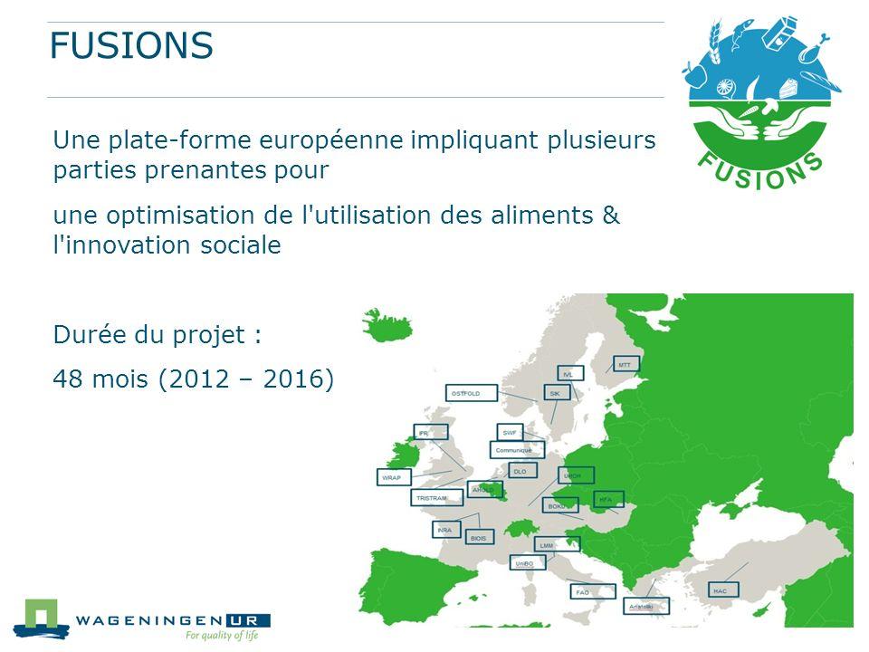 FUSIONS Une plate-forme européenne impliquant plusieurs parties prenantes pour une optimisation de l'utilisation des aliments & l'innovation sociale D