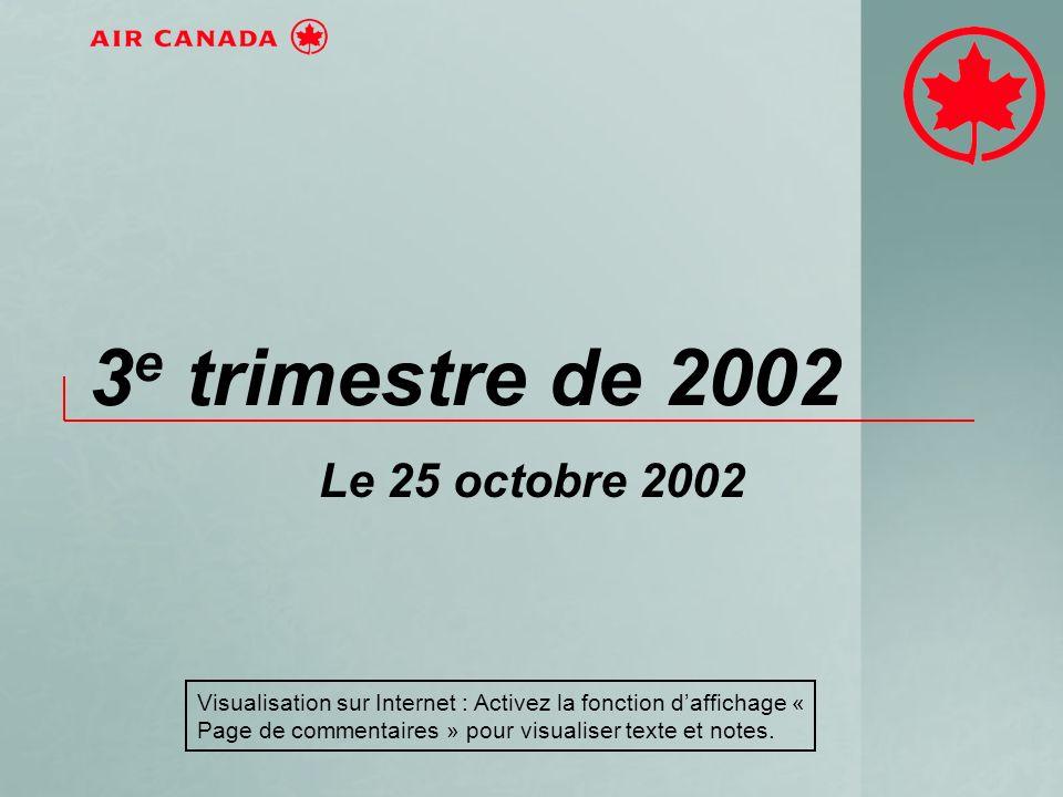 3 e trimestre de 2002 Le 25 octobre 2002 Visualisation sur Internet : Activez la fonction daffichage « Page de commentaires » pour visualiser texte et notes.
