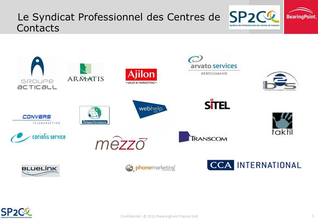 Confidentiel. © 2011 BearingPoint France SAS 2 La seule fédération professionnelle du secteur, regroupe la quasi-totalité des prestataires de service