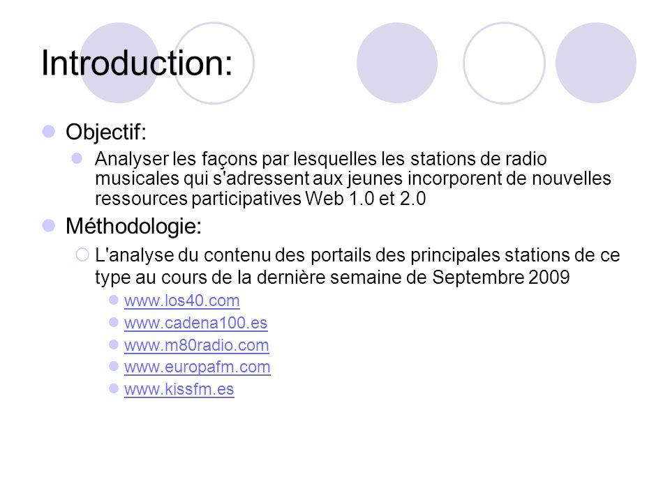 Introduction: Objectif: Analyser les façons par lesquelles les stations de radio musicales qui s'adressent aux jeunes incorporent de nouvelles ressour