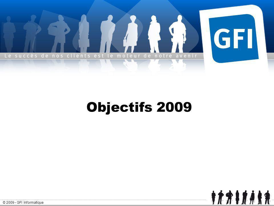 © 2009 - GFI Informatique Objectifs 2009