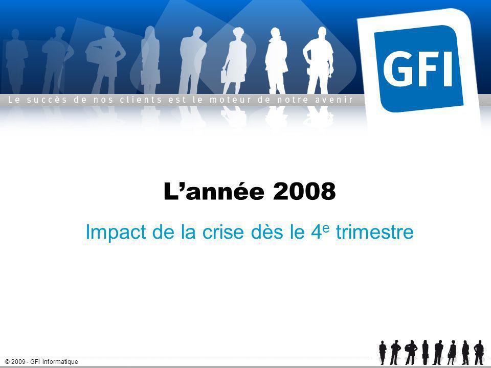 Page 14© 2009 - GFI Informatique Résultats annuels 2008 - GFI Informatique Résultat 2008 - Flux de trésorerie