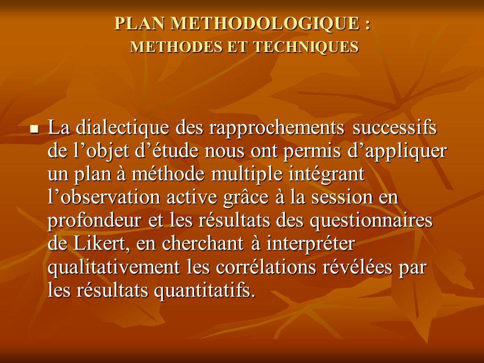 Chaque personne et chaque zone, quelque soit sa place dans le système, développera la triple dimension des processus proposés par lenquête de façon dialogique et avec un haut niveau de participation consciente.