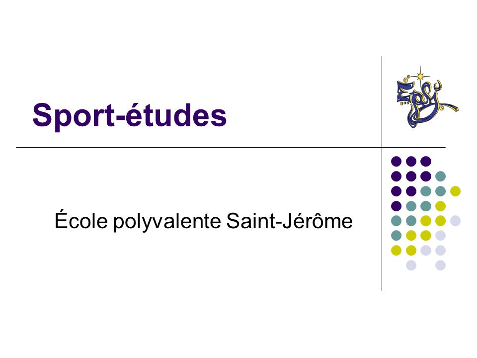 Sport-études École polyvalente Saint-Jérôme
