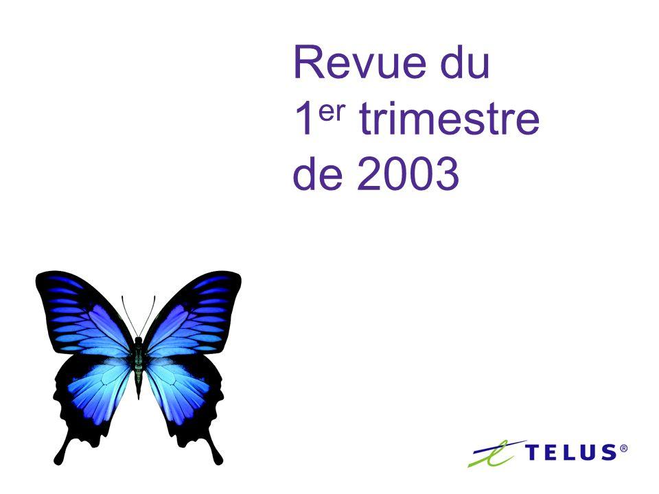 Revue du 1 er trimestre de 2003