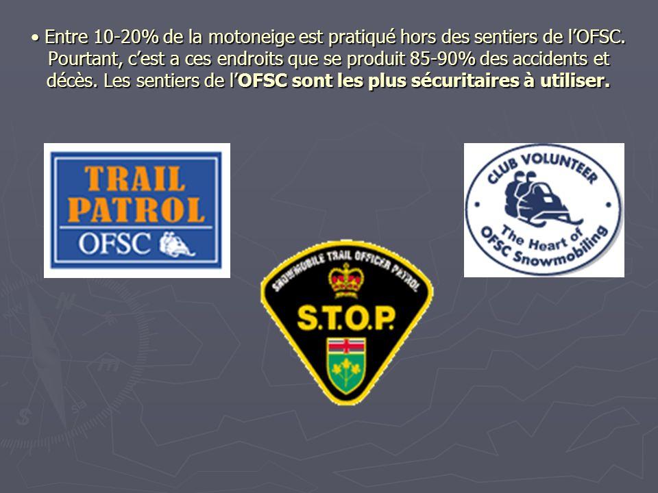 Sécurité en motoneige Il y a plusieurs programmes de lOFSC dédier à la viabilité et la sécurité de la motoneige organisée.