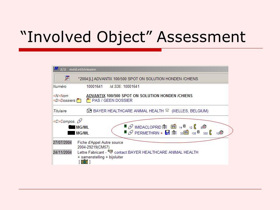 Involved Object Assessment