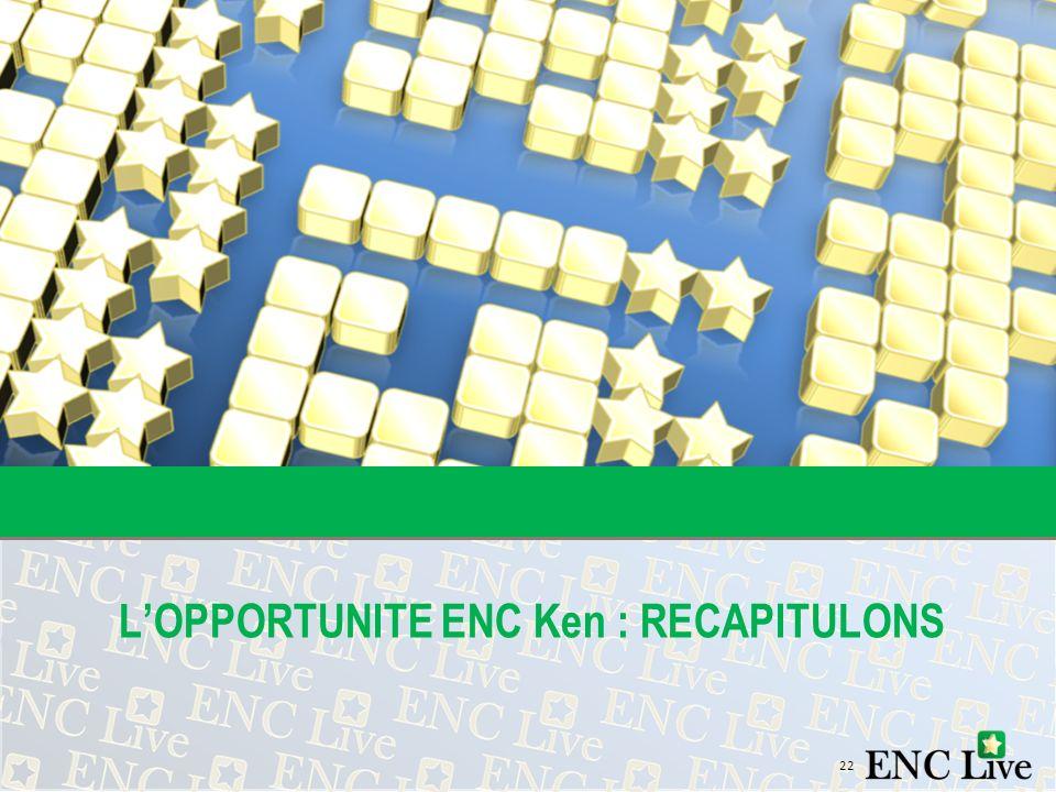 22 LOPPORTUNITE ENC Ken : RECAPITULONS