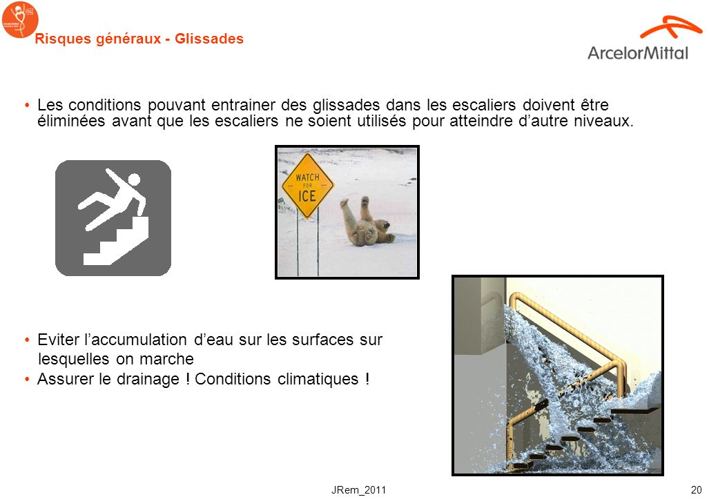 JRem_2011 19 Normes de sécurité pour les rampes Rampes escaliers – Normes canadiennes La fonction première de la rampe est de permettre de se tenir/sa