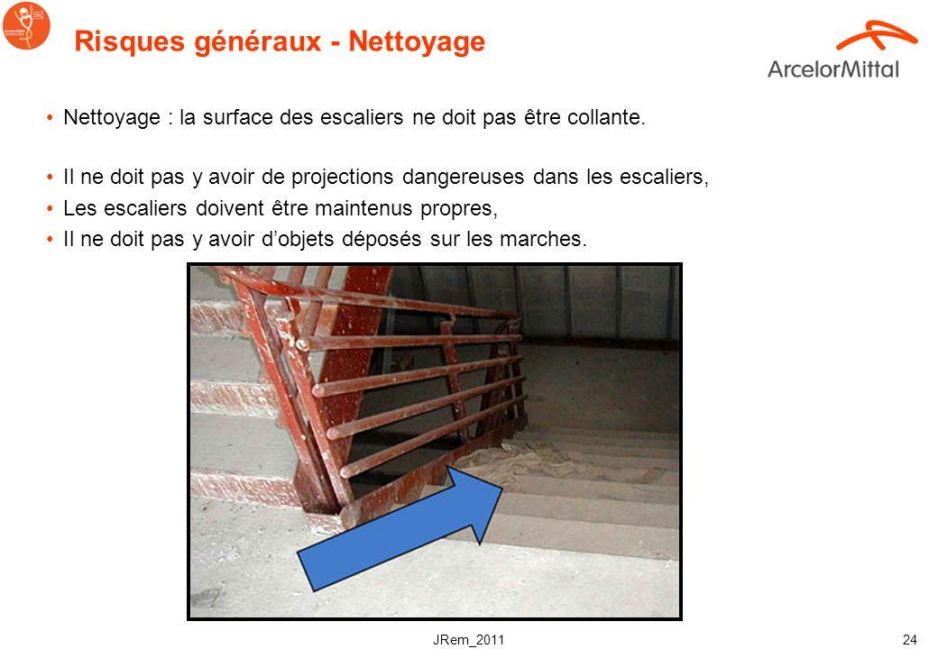 JRem_2011 23 Risques généraux - Lumière et visibilité Utiliser un éclairage angulaire et des contrastes de couleur Léclairage doit être adapté à lenvi