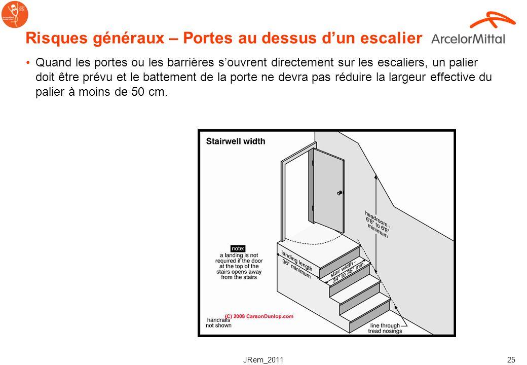 JRem_2011 24 Risques généraux - Nettoyage Nettoyage : la surface des escaliers ne doit pas être collante. Il ne doit pas y avoir de projections danger