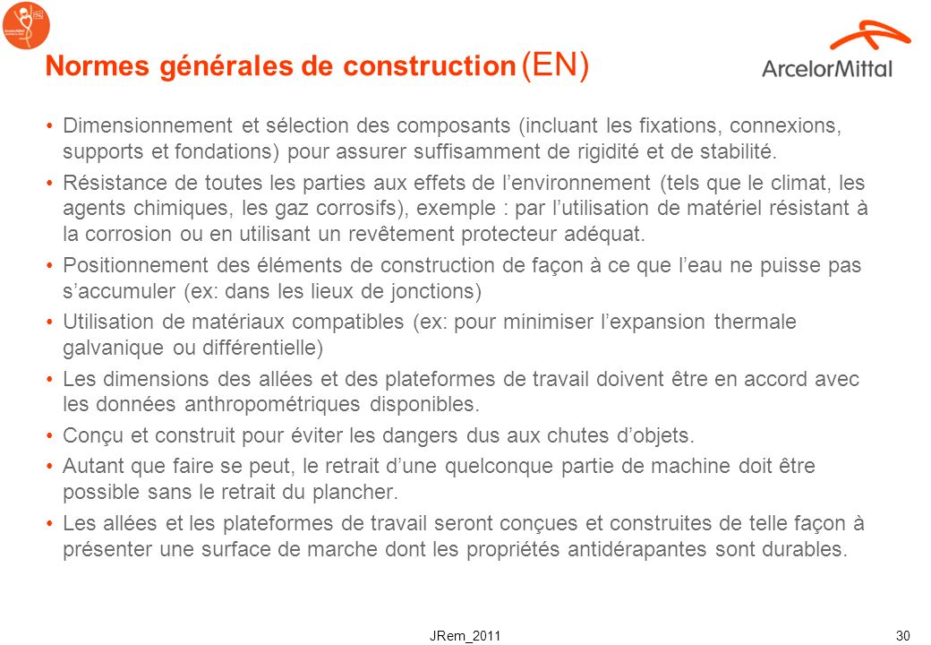JRem_2011 29 Termes & définitions sols caillebotis en acier Plancher : assemblage déléments transformant le sol en une allée ou une plateforme de trav