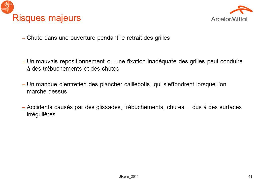 JRem_2011 40 Exemple Pour le retrait des sols caillebotis, TOUS les points suivants devront être suivis: III. Mesure supplémentaires A. Lorsque lon tr