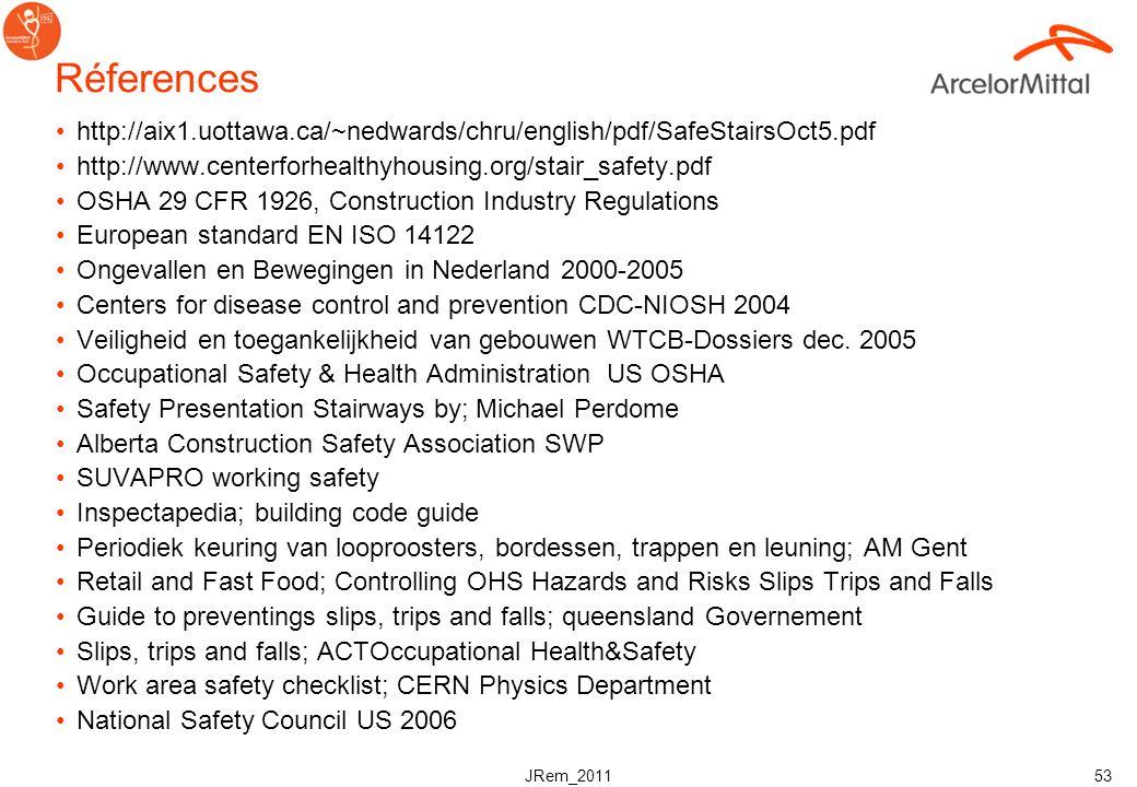 JRem_2011 52 Checklist CaillebotisOk?Actions correctives Il existe un programme documenté et opérationnel pour le retrait de panneaux callebotis Des p