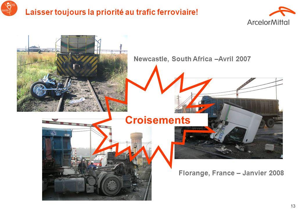 12 Galati, Romania 2007 Place de la victime Galati, Romania – Juillet 2009 Croisements Laisser toujours la priorité au trafic ferroviaire!