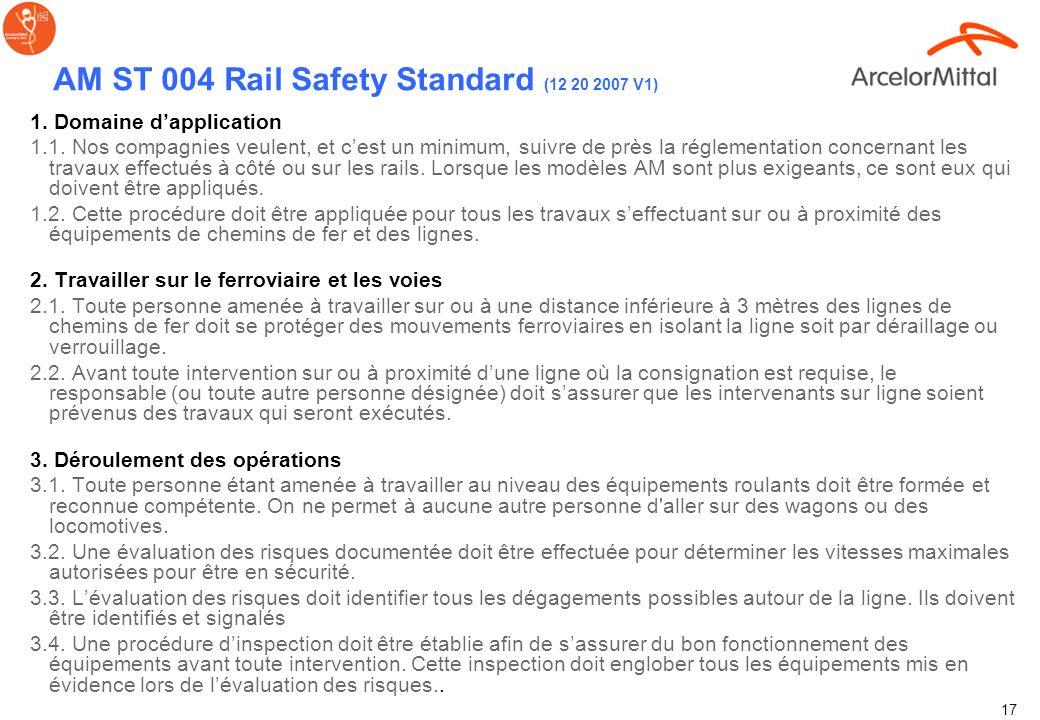 AM ST 004 Rail Safety Standard (12 20 2007 V1) FPA Rail Safety