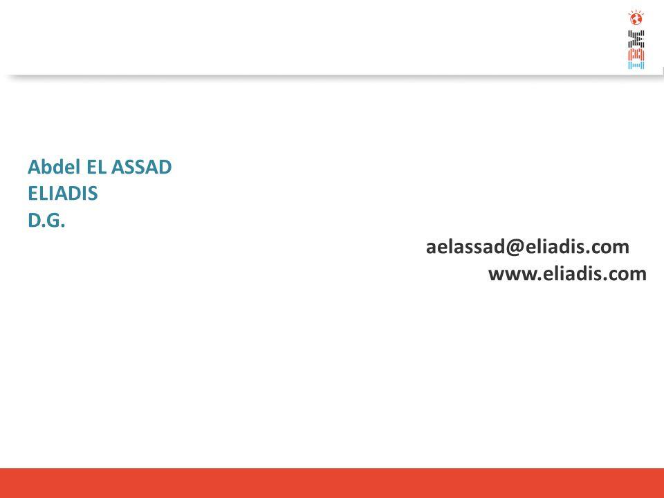 Abdel EL ASSAD ELIADIS D.G. aelassad@eliadis.com www.eliadis.com