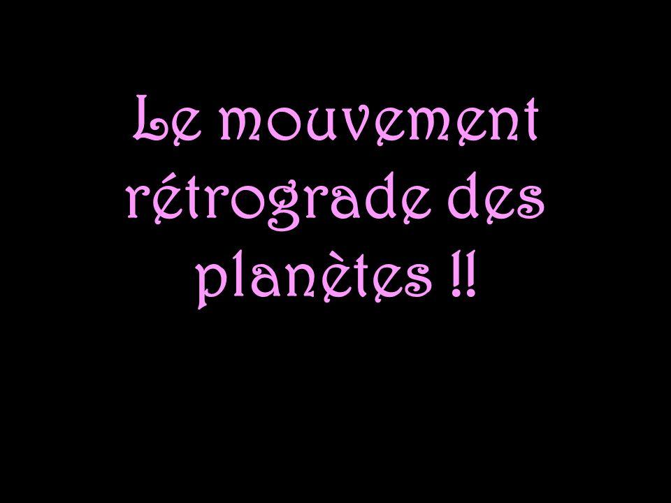 Le mouvement rétrograde des planètes !!