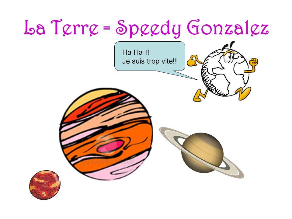La Terre = Speedy Gonzalez Ha Ha !! Je suis trop vite!!