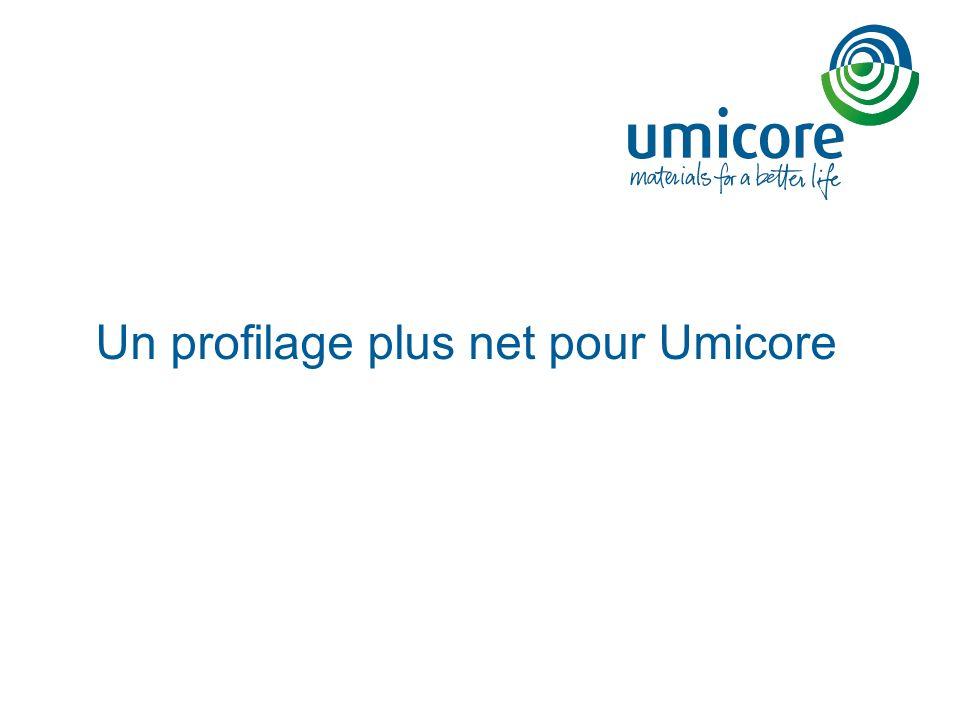 Un profilage plus net pour Umicore