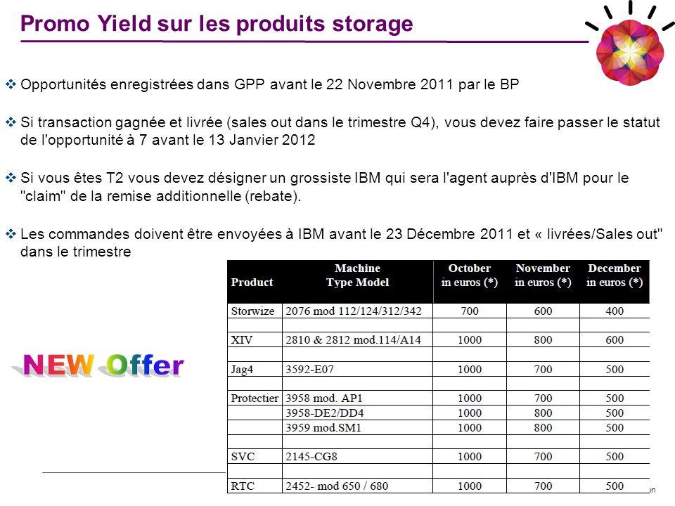 © 2011 IBM Corporation Opportunités enregistrées dans GPP avant le 22 Novembre 2011 par le BP Si transaction gagnée et livrée (sales out dans le trime