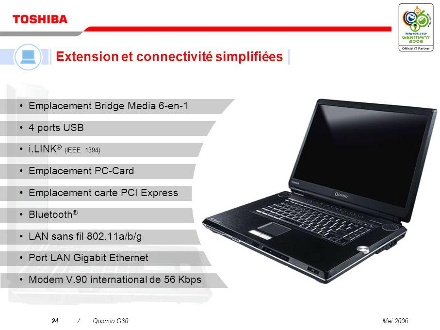 Mai 200623/Qosmio G30 Carte graphique NVIDIA ® GeForce ® Go 7600 1.