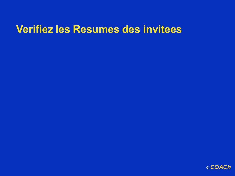 Verifiez les Resumes des invitees © COACh