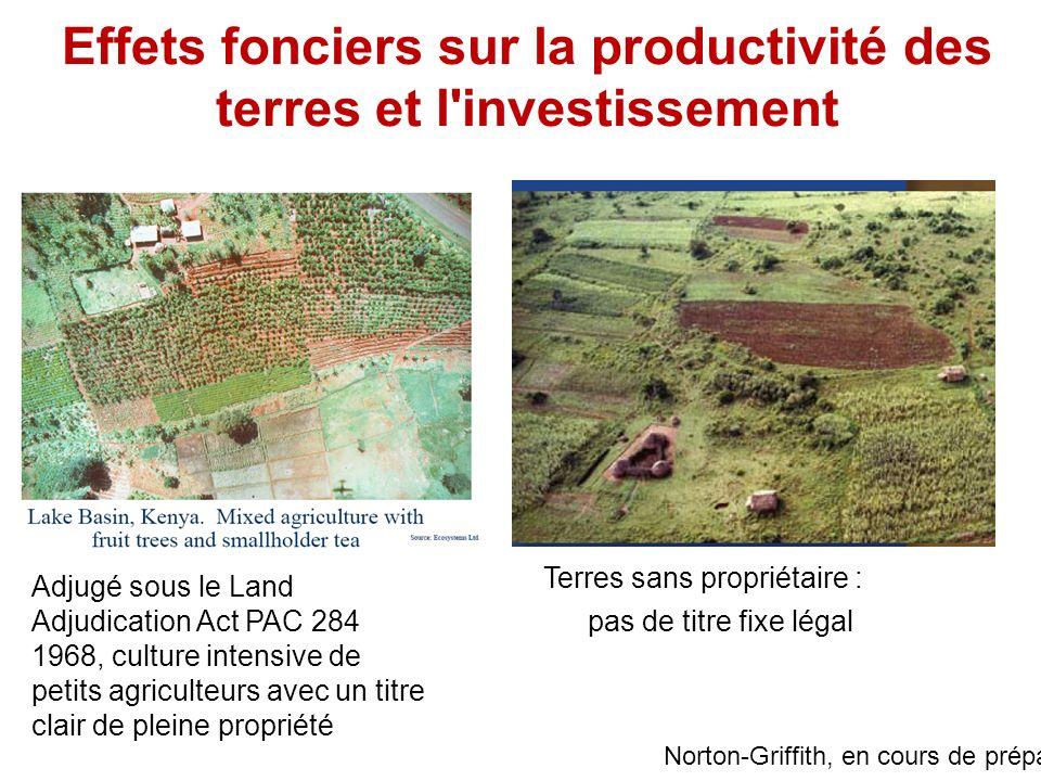 Adjugé sous le Land Adjudication Act PAC 284 1968, culture intensive de petits agriculteurs avec un titre clair de pleine propriété Effets fonciers su