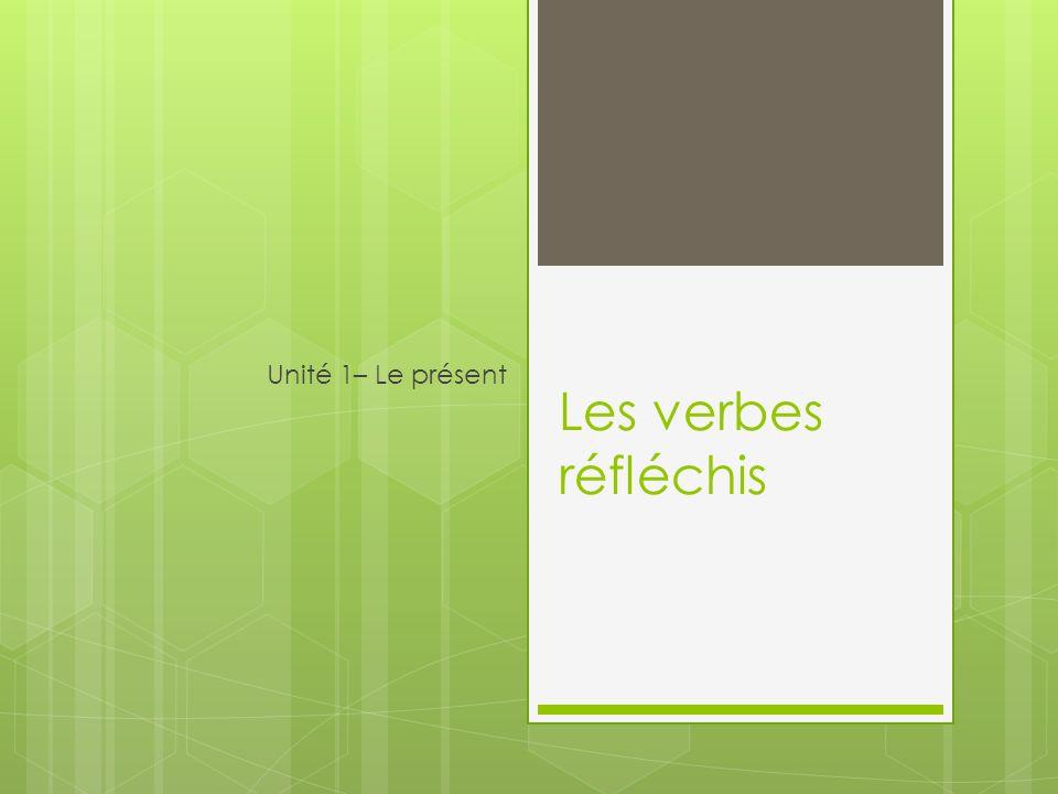 Les verbes réfléchis Unité 1– Le présent