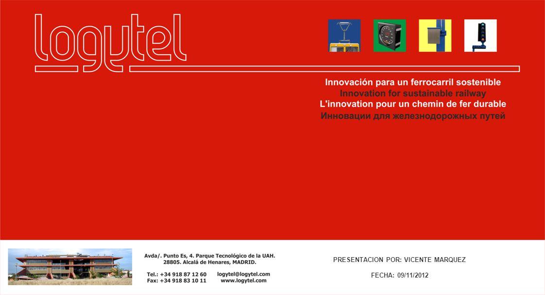 PRESENTACION POR: VICENTE MARQUEZ FECHA: 09/11/2012