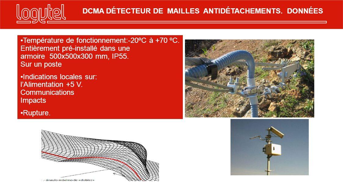 Température de fonctionnement:-20ºC à +70 ºC. Entièrement pré-installé dans une armoire 500x500x300 mm, IP55. Sur un poste Indications locales sur: lA