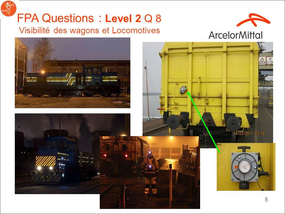 4 FPA Questions Level 2 Q 8: Les locomotives sont-elles équipées de phares avant pour les deux directions et de dispositifs sonores, comme une sirène?