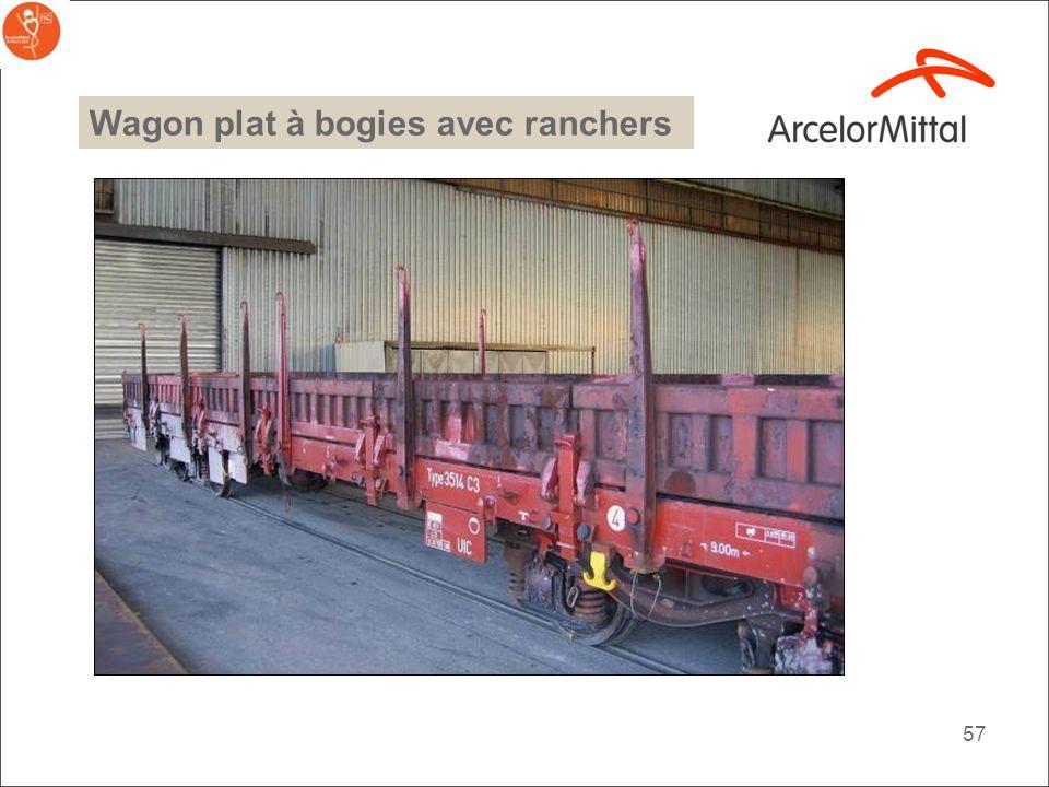 56 Wagon plat à bogies