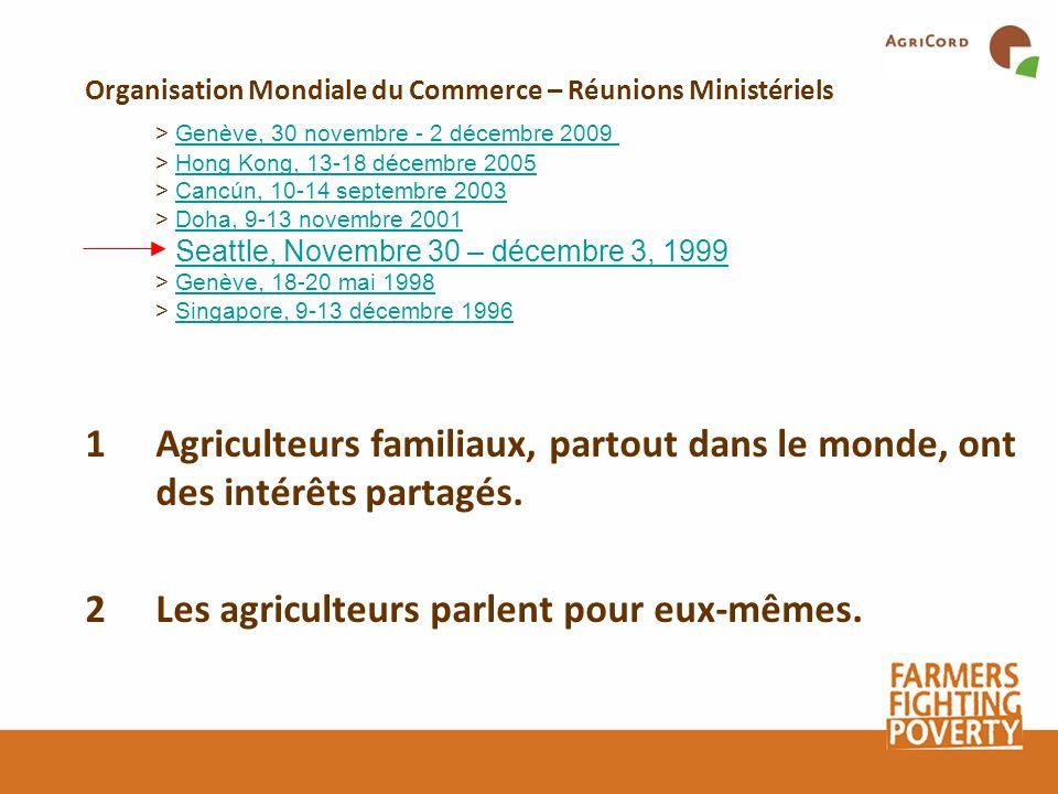 Organisation Mondiale du Commerce – Réunions Ministériels > Genève, 30 novembre - 2 décembre 2009 > Hong Kong, 13-18 décembre 2005 > Cancún, 10-14 sep