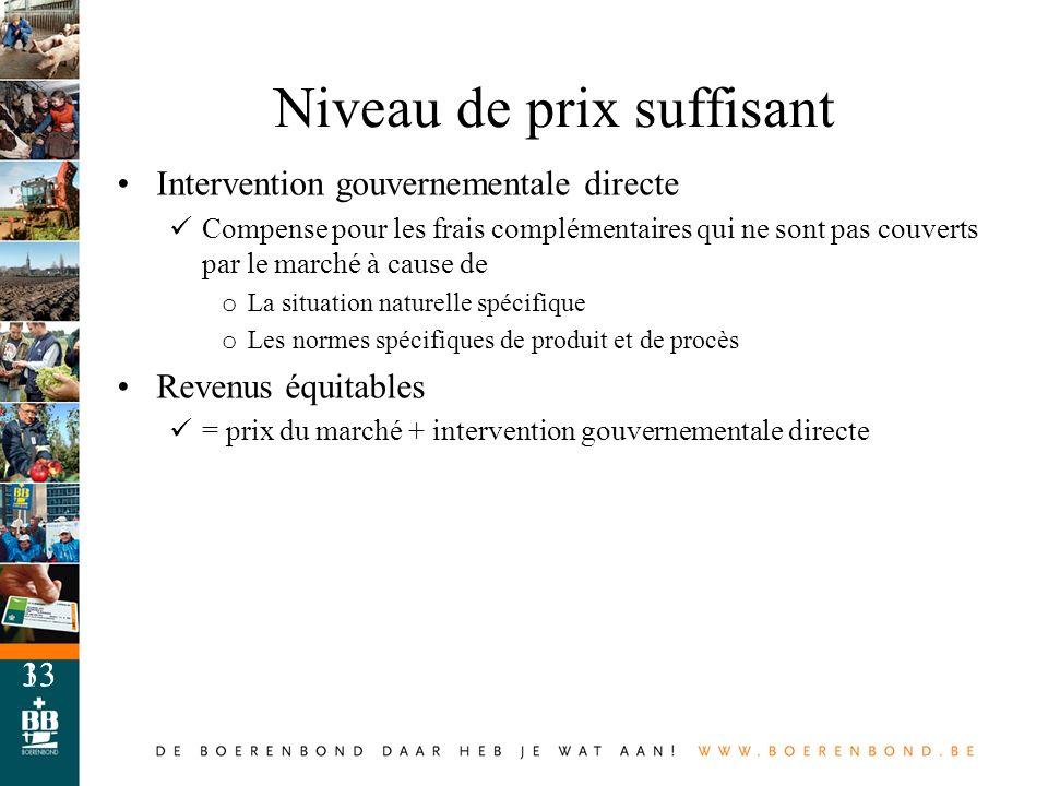 13 Intervention gouvernementale directe Compense pour les frais complémentaires qui ne sont pas couverts par le marché à cause de o La situation natur