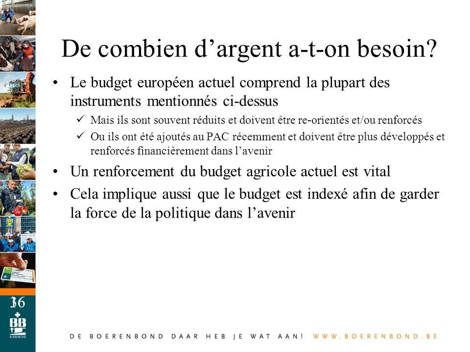 16 De combien dargent a-t-on besoin? Le budget européen actuel comprend la plupart des instruments mentionnés ci-dessus Mais ils sont souvent réduits