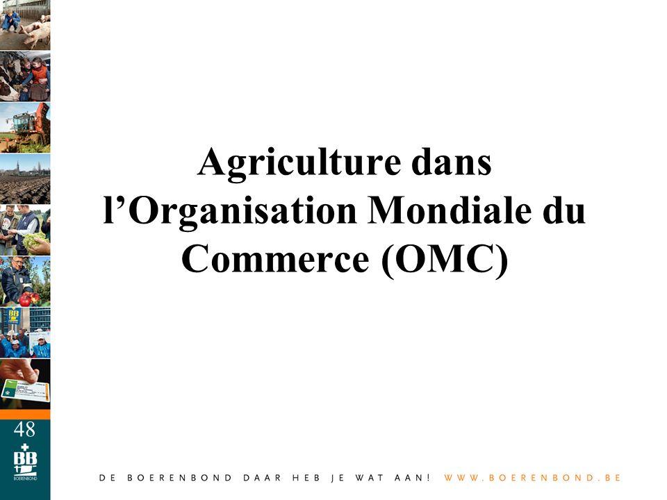 48 Agriculture dans lOrganisation Mondiale du Commerce (OMC)