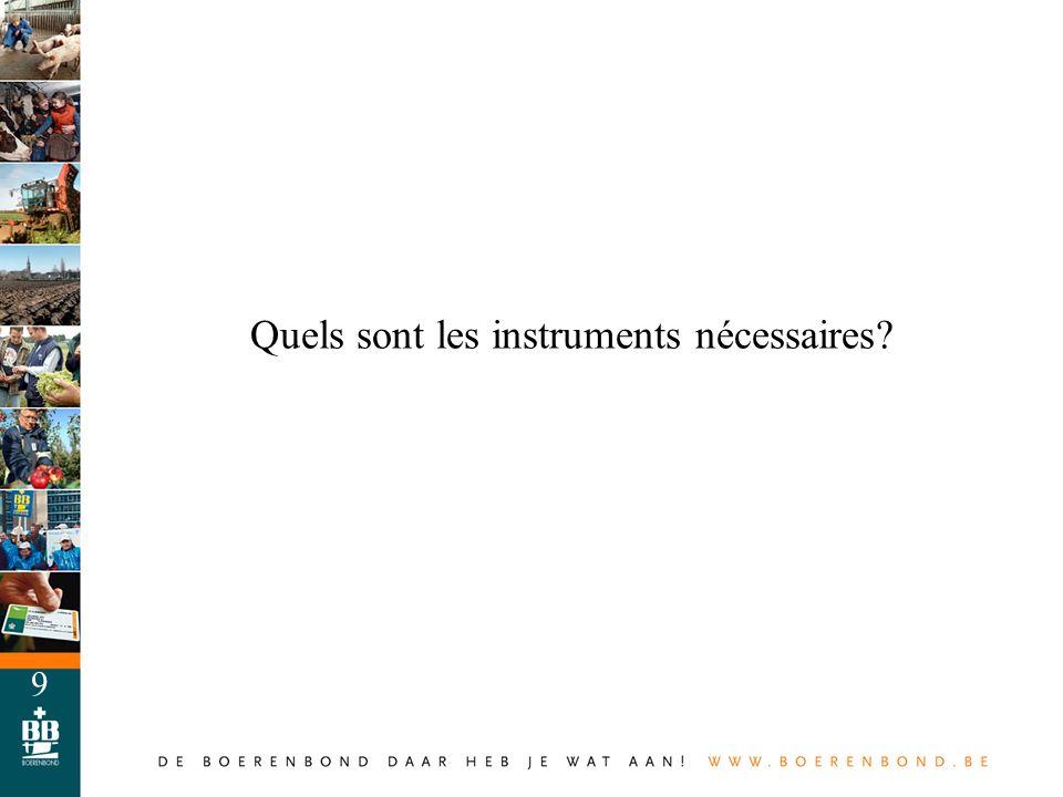 10 Quels sont les instruments nécessaires.