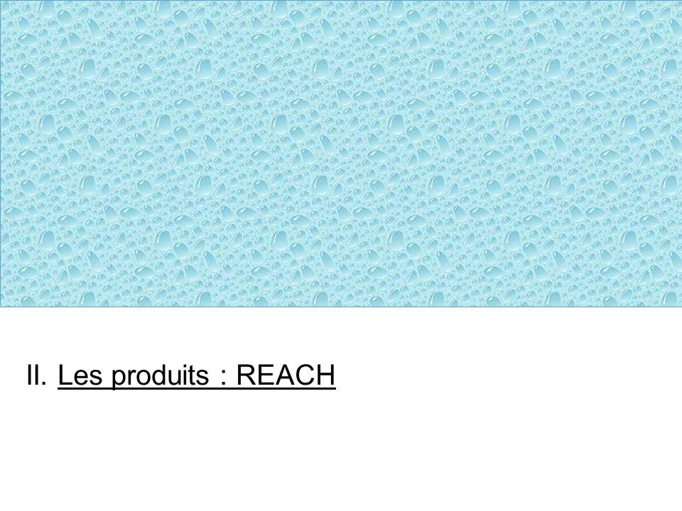 II. Les produits : REACH