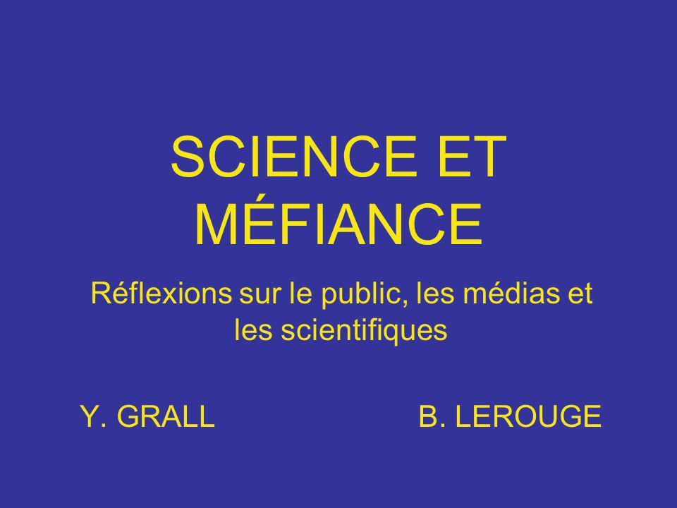 SCIENCE ET MÉFIANCE Réflexions sur le public, les médias et les scientifiques Y. GRALLB. LEROUGE